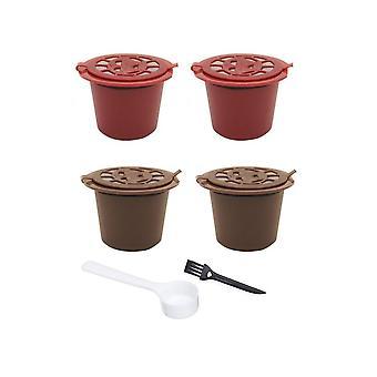 4db Nespresso újratölthető újrahasználható kávékapszula szűrők csésze Kanál (4db)