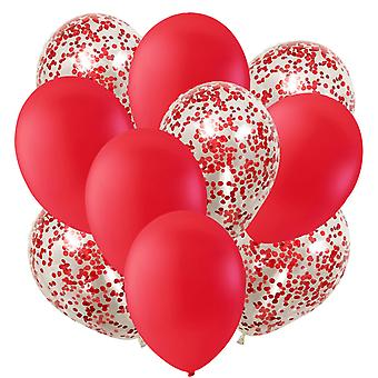 Balloons Red and Confetti balloons | Party | Birthday | Party