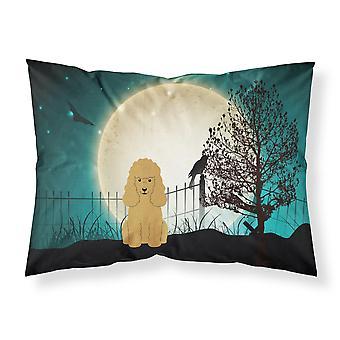 Caroline's Treasures Halloween Scary Poodle Tan Fabric Standard Pillowcase Bb2259Pillowcase