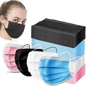 3-lags anti-støv disponibel Mascarillas 10/50/100 stk ikke-vevd ansiktsmaske