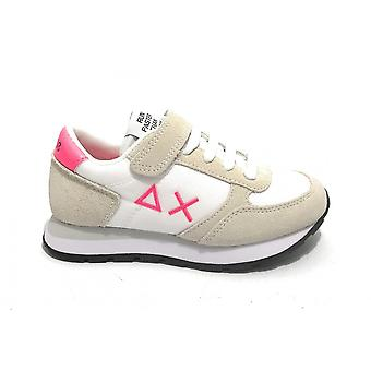 Shoes Baby Sun68 Sneaker Girl's Ally Nylon Solid Suede White Zs21su02 Z31401