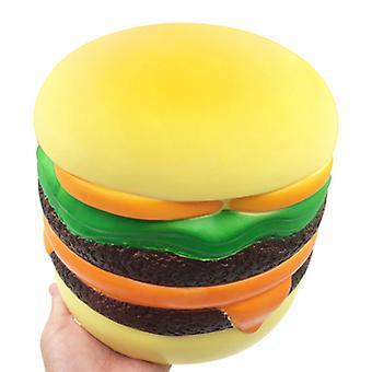 Oversized cheeseburger Squishy Slow rebound Decompressie vent speelgoed voor kinderen, volwassenen