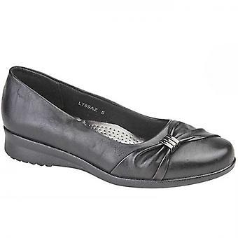Boulevard Clara Ladies Ballerina Flats Black