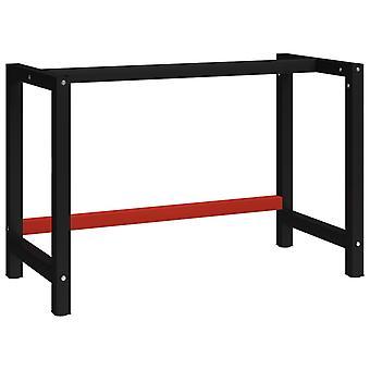 vidaXL workbench metal 120x57x79 cm black and red