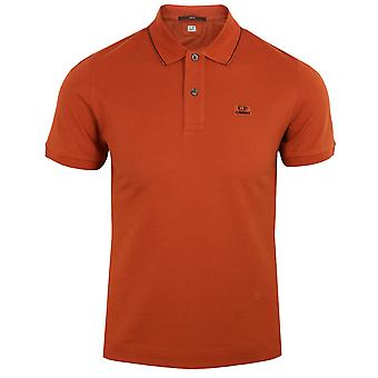 C.p. company men's burnt orange polo shirt