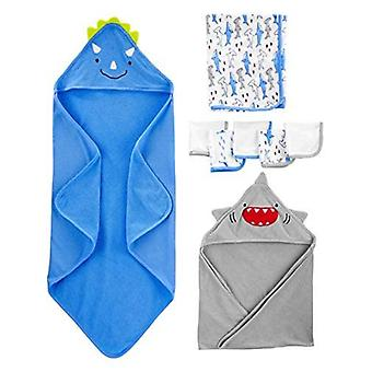 Simple Joys by Carter's Baby Boys' 8-Piece Towel and Washcloth, Multi, Size