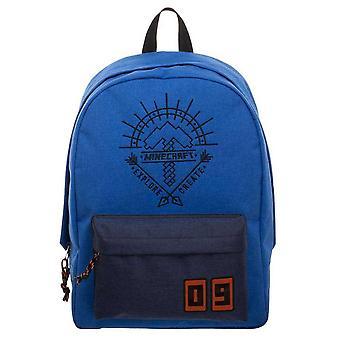 Minecraft Explore Create Backpack School Bag Bag Blue 43x30x13cm