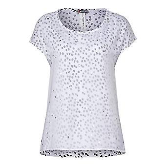 Street One 314663 T-Shirt, White, 42 Woman