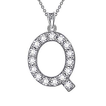 Besilver FP0073A - Letter-shaped pendant necklace of the alphabet, in Sterling Silver 925, with Crystals, with Ref monogram. 8431228533865