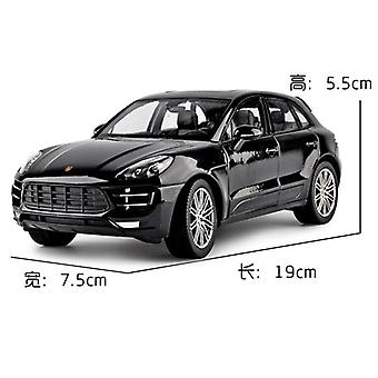 1:24 Porsche Macan Alloy Car Model Simulation Car Decoration Collection Gift Toy Die(Black)