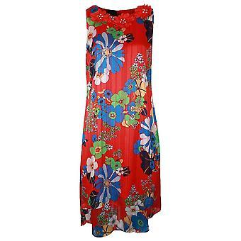 Frank Lyman Pleated Flower Print Sleeveless Dress