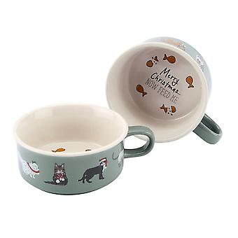Christmas Themed Cat Food Bowl - Gift Item