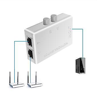 Mini 2-porters svitsj Ethernet-nettverksboksbryter toports korthub