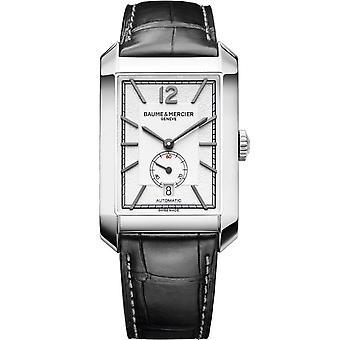 Baume & Mercier M0a10528 Hampton automaattinen suorakaiteen muotoinen hopea & musta nahka miesten kello