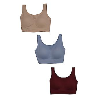 Rhonda Shear One 3 Invisible Body w/ Removable Pads Beige Bra 689036