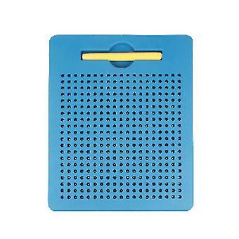 S blauwe plastic stalen bal magnetische tekentafel kinderspeeltje az5179