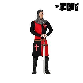 زي للبالغين فارس من الحروب الصليبية الأحمر الأسود (2 أجهزة الكمبيوتر الشخصية)