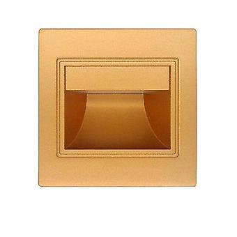 Gerui LED induction embedded corner step light(Golden)