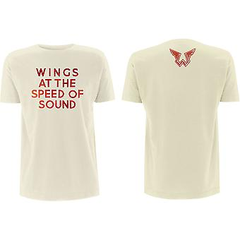 Paul McCartney - Wings at the Speed of Sound Men's XX-Large T-Shirt - Sand