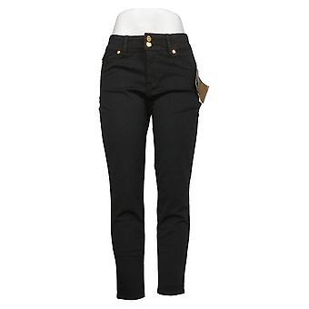 IMAN Global Chic Women's Petite Jeans Luxury Resort Slim Skinny Black 713978