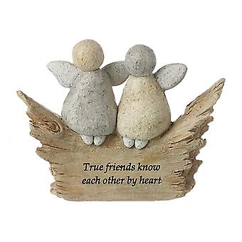 True Friends Angels Resin Stone Ornament by Heaven Sends