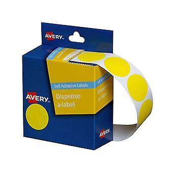 Avery Dispenser Yellow 24Mm Roll 500