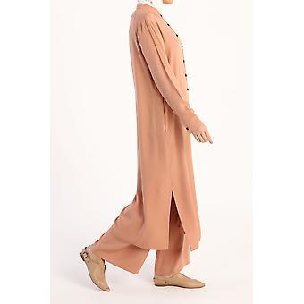 Viszkózus mandarin gallér nadrág öltönyök zsebekkel