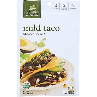 Simply Organic Mix Taco Ssnng Mild, Case of 12 X 1 Oz