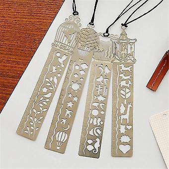 new cute hollow metal bookmark ruler sm32744