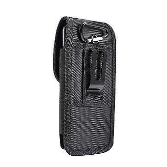 für Oppo A74 5G (2021) Gürteltasche Abdeckung Vertikales Leder & Nylon