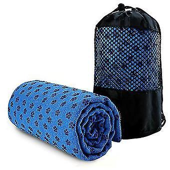 Sport antislip yoga mat cover handdoek deken fitness oefening Pilates Workout (blauw)