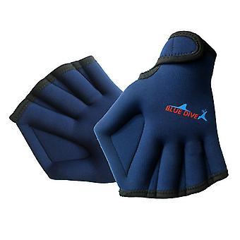 Moye aquatische handschoenen voor het helpen van bovenlichaam weerstand zwemhandschoenen (blauw)