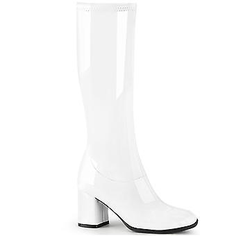 Ropa y Accesorios Funtasma > Disfraces y Accesorios > Botas de Vestuario > Mujeres GOGO-300-2 Blanco Str. Pat