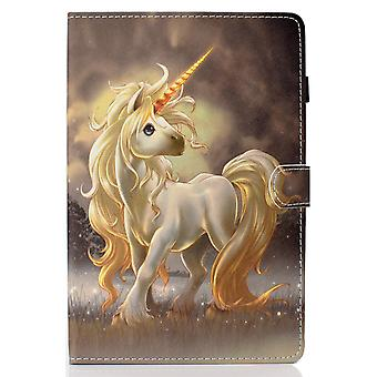 Case For Ipad 7 10.2 2019 Cover With Auto Sleep/wake Pattern Magnetic - Unicorn