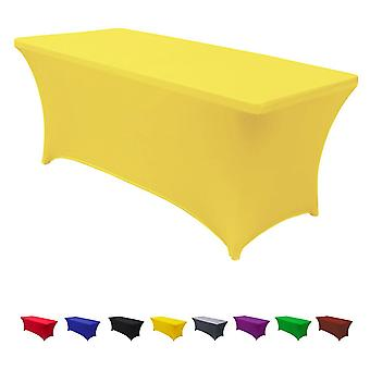 6 Ft Rectangular Spandex Table Cover Wedding Party Fitted Stretch Tablecloth