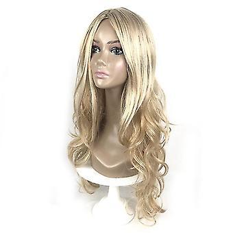 Lange diepe golvende pruik voor vrouwen (blonde)