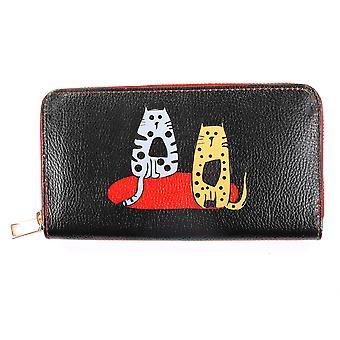 Portefeuille pour femmes, portefeuille pour chat mignon, porte-monnaie long avec fermeture à glissière, porte-cartes pour filles, grand portefeuille en cuir, portefeuilles pour chats pour adolescentes, porte-monnaie pour femmes
