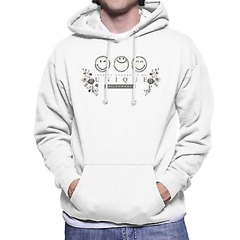 Smiley World Inspire Others To Be Unique Men's Hooded Sweatshirt