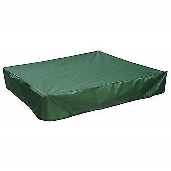 Square oxford cloth cover sandbox  waterproof cover sandbox green 120x120cm