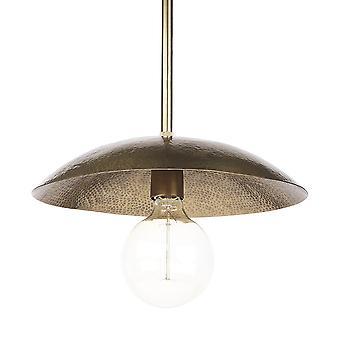 Hamret guld metal hængende vedhæng lys