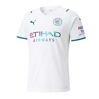 Puma Manchester City 2021/22 Mens Short Sleeve Away Football Shirt White