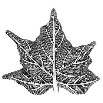 Maple Leaf Vase Gunmetal Small