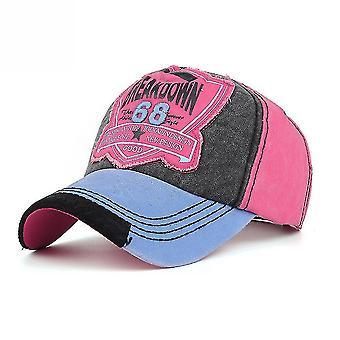 68 Casquette de baseball lavée Sunshade Hip Hop Réglable Snapback Hat Gorra