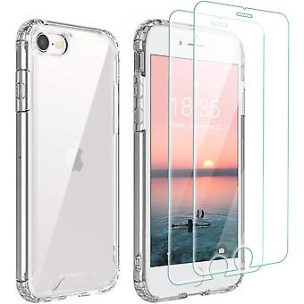2 Pack Tempered Glass Screen Protector Iphone 7 Plus/iphone 8 Plus Screen, Premium Tempered Glass 9h Hardness