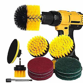 Drill Brush Kit - Drill Brush Attachment With 6 Inch Extender