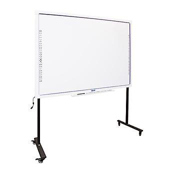 Tableau blanc interactif + Support avec roues iggual 86»