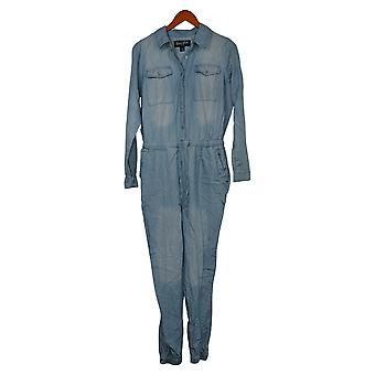 Brittany Humble Jumpsuits Long-Sleeve Utility One-Piece Blue 742807