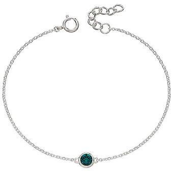 Bracelet De pierre de naissance Beginnings May - Argent / Vert émeraude