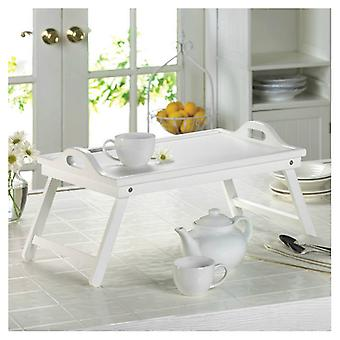 Accent Plus White Wood Breakfast-in-Bed Tray, Pack of 1