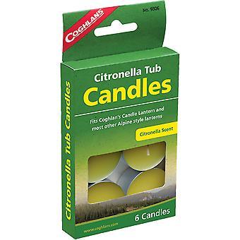 Coghlans nöd citronella tub ljus - 6-pack
